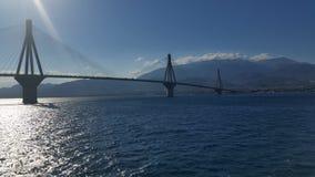 里约Antirio桥梁 免版税库存照片