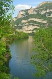 里约Ebro Embalse de Sobron 免版税库存照片