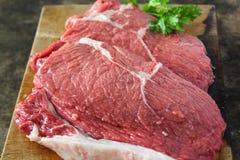 滑里股肉牛肉 库存图片