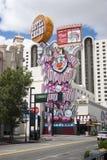 里诺赌博娱乐场小丑标志 库存图片