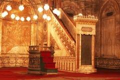 从里边古老清真寺在开罗在埃及 库存图片