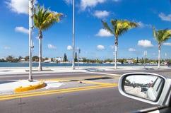 从里边旅行视图汽车 库存图片