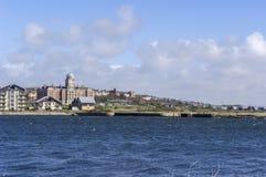 巴里靠码头江边,威尔士,英国 免版税图库摄影