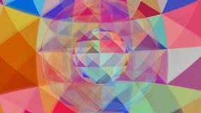 里面五颜六色的颜色球 皇族释放例证