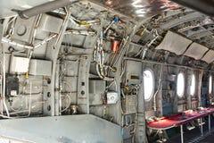 里面军用直升机 免版税库存图片
