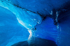 里面冰川洞 图库摄影
