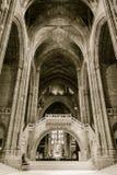 里面利物浦大教堂 免版税库存图片