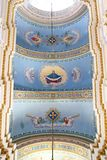 里面变貌教会在利沃夫州 免版税库存照片
