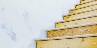 里面台阶进行建筑的房子 免版税库存图片