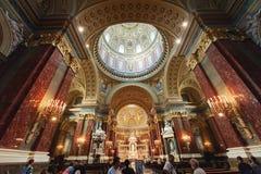 里面圣斯德望的大教堂 免版税库存图片