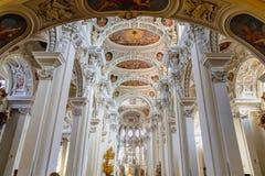 里面圣斯蒂芬大教堂在帕绍 库存图片