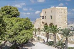 里面圣芭卜拉城堡 图库摄影