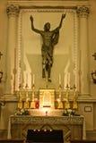 里面圣马力诺大教堂 库存照片