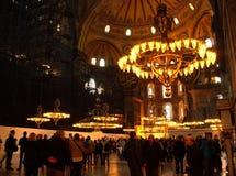 里面圣索非亚大教堂 库存照片