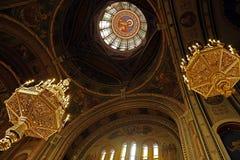 里面在蒂米什瓦拉正统大教堂3里 免版税库存图片