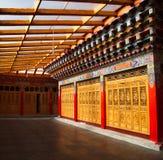 里面在Zhongdian或上栗La的Songzanlin喇嘛西藏寺庙 免版税库存照片