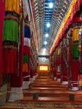 里面在Zhongdian或上栗La的Songzanlin喇嘛西藏寺庙 免版税图库摄影