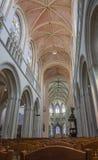 里面坎佩尔大教堂在布里坦尼 库存图片