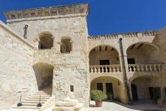 里面堡垒St安吉洛,马耳他 库存照片
