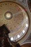 里面大教堂圆顶 免版税库存照片