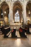 里面大教堂布拉格 库存照片