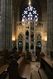 里面大教堂布拉格 免版税库存图片