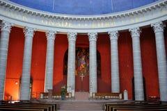 里面天主教教会 库存图片