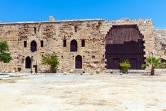 里面威尼斯式凯里尼亚城堡(第16个c ),北部塞浦路斯 库存图片