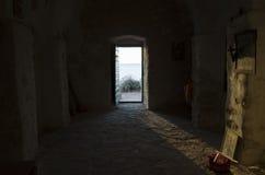 里面小教堂和教会在Razanj克罗地亚欧洲 库存照片