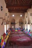 里面尼兹瓦堡垒城堡,阿曼 库存照片