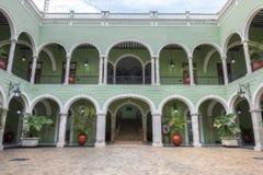 里面州长宫殿在梅里达,墨西哥 库存照片
