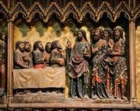里面巴黎圣母院大教堂 库存图片