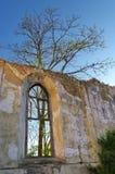 里面教会废墟 免版税库存照片