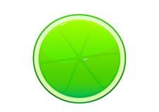里面明亮的水多的鲜美绿色石灰动画片 库存图片