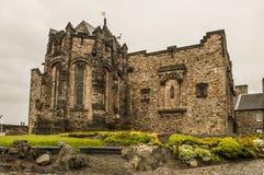 里面爱丁堡城堡墙壁 免版税库存图片