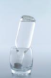 里面玻璃瓶 库存图片