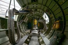 里面的细节第二次世界大战航空器 库存图片