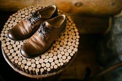 里面皮鞋 库存图片