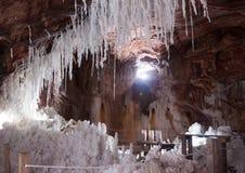 洞穴里面看法被放弃的盐洞的 库存图片