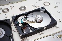 里面硬盘驱动器 免版税库存照片
