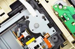 里面磁盘驱动器dvd 库存图片