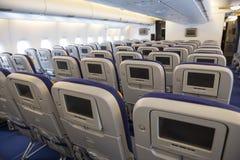 里面空中客车A380飞机 库存图片