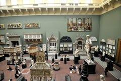 里面维多利亚和阿尔伯特博物馆在伦敦,英国 免版税图库摄影