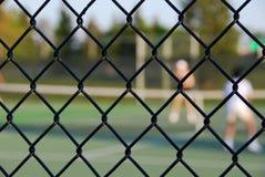里面网球 免版税库存照片