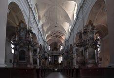 里面美丽的教会 免版税库存图片