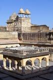 里面美丽的琥珀色的堡垒在Jaiput 免版税库存图片