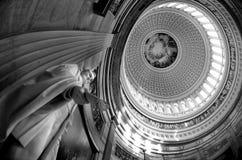 里面美国国会大厦圆顶 库存图片