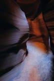 里面羚羊峡谷 库存图片