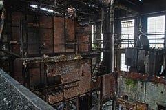 里面老工厂 库存照片