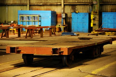 里面老工厂 库存图片
